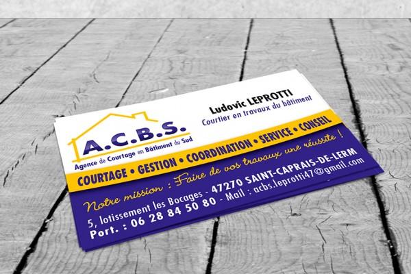 B'com Carte de visite ACBS Leprotti