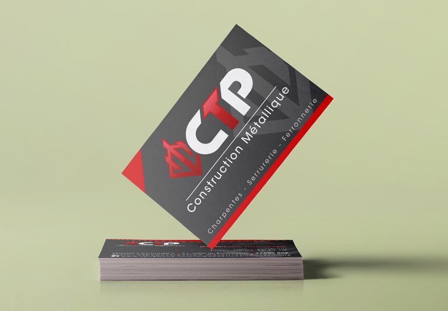 B'com Carte de visite CTP Construction Métallique