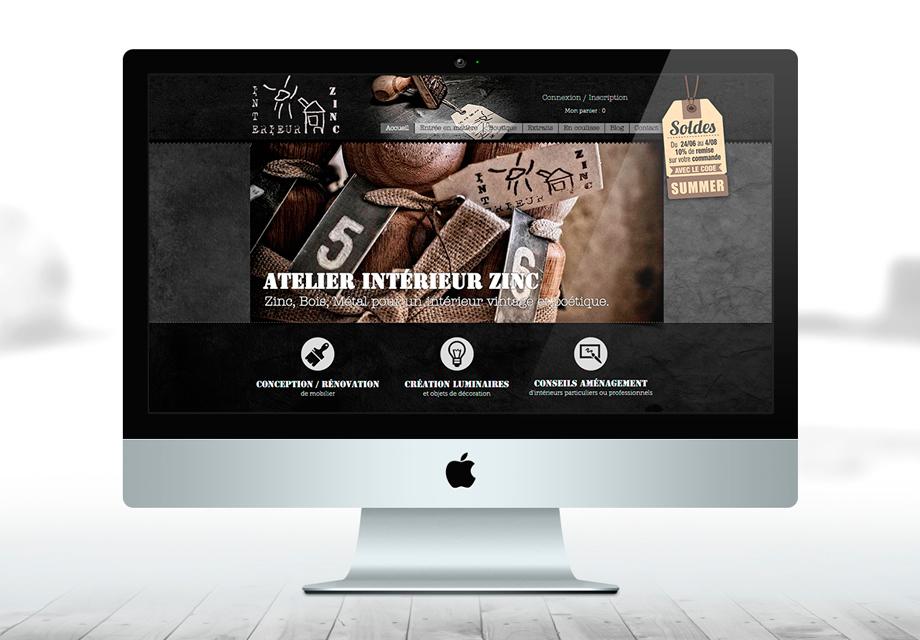 B'com Site internet Intérieur Zinc