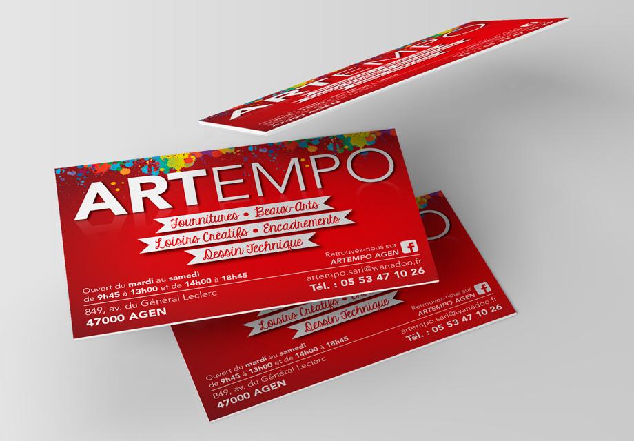 B'com carte de visite Artempo