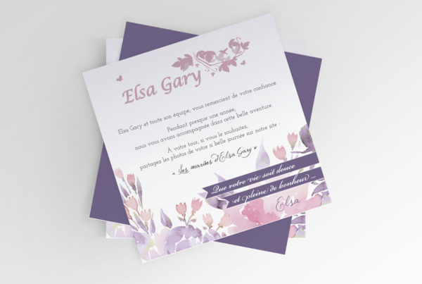 B'com Carte d'invitation Elsa Gary