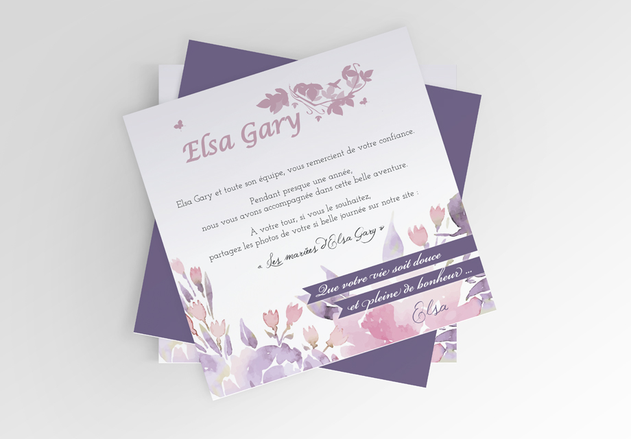 B'com Carte d'invitation Elsa Gary